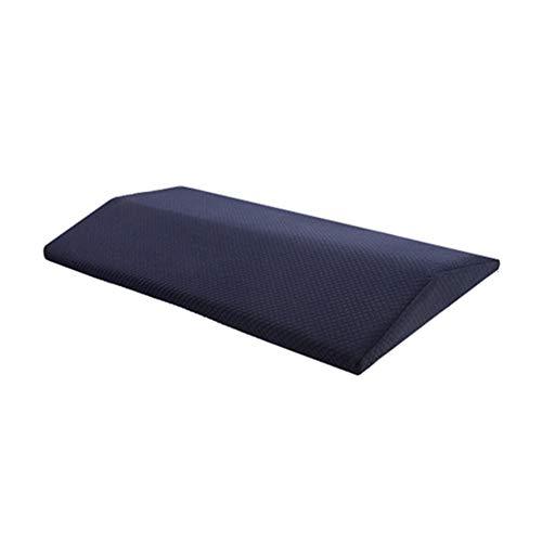 Yulo Larga Almohada Lumbar Dormir para la Parte Inferior del Dolor de Memoria de Espuma ortopédica Cintura Apoyo cojín para la Mujer Embarazada Alivio del Dolor,Azul