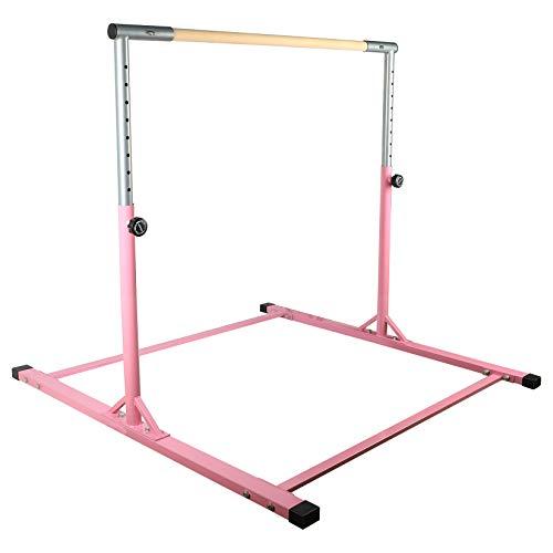 ORIENTOOLS Gymnastics Bar for Kids, Horizontal Bar Height Adjustable Gymnastics...