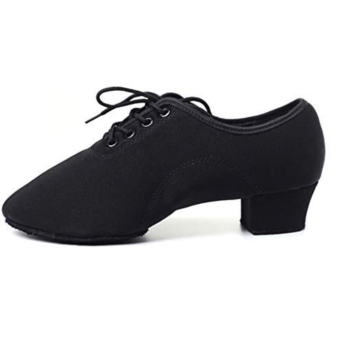 Unbekannt Erwachsener lateinischer Tanz beschuht Oxford-Stoff-Lehrer beschuht modernen Square Dance-Schuh-Seemann-Tanz-Schuh-Gesellschaftstanz (Farbe : Schwarz, größe : 30)
