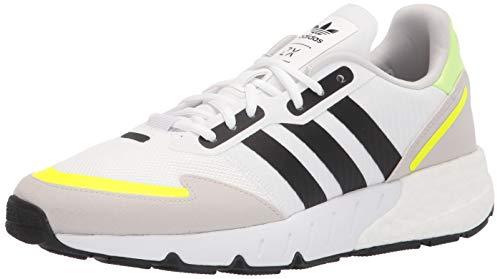 adidas Originals Men's ZX 1K Boost Sneaker, White/Black/Solar Yellow, 13