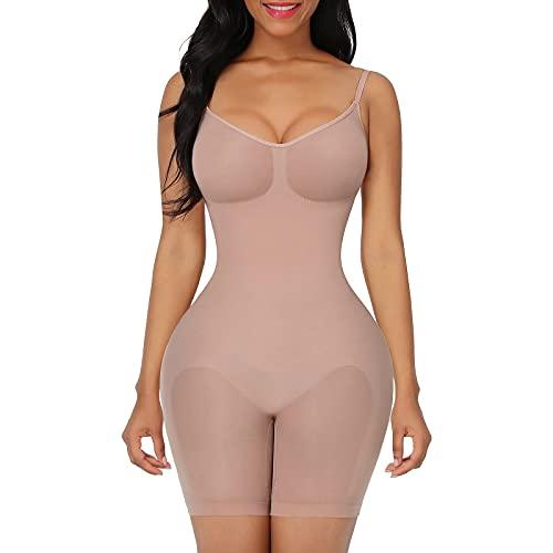 FeelinGirl Seamless Bodysuit Shapewear Butt Lifter Fajas Colombianas Firm Control High Waist Body Shaper Underwear Dress Skin XS/S
