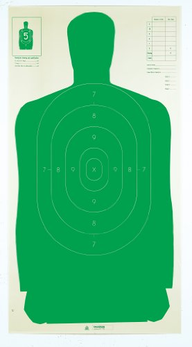 Champion Traps and Targets, Police Silhouette Target, 24x45 Green (100 Pack) (40732)