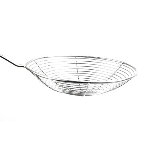 uxcell Kitchen Utensil Stainless Steel Mesh Strainer Ladle Spider Skimmer Fry Spoon Noodle Basket, Set of 3 5.5 Inch,6 Inch,7.9 Inch