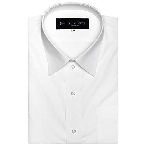 ブリックハウス ワイシャツ 半袖 形態安定 レギュラー 白無地 透け防止 Just Style メンズ BM01X900AB46R1S...