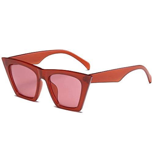 Gafas de Sol Gafas De Sol Retro con Forma De Ojo De Gato para Mujer, Gafas De Sol Negras para Mujer, Gafas De Sol Uv400 Clearred