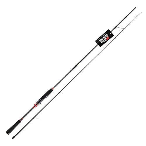 Alberta Caña de Pescar Spinning/Pesca Rod del Bastidor de Alto carbón de Rod Body Power caña de Pescar con la manija de fundición a presión C802ML 2.44m Caña de Pescar telescópica
