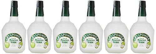Granpomier - Licor de Manzana Verde - 6 botellas x 700 ml - Total: 4200 ml