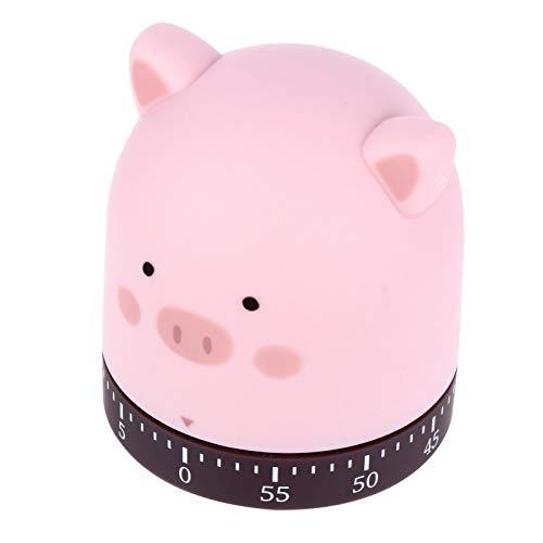 YARNOW Schwein Küchenuhr Timer Kochen Countdown 60 Minuten Eieruhr Mechanische Alarm Erinnerung Schwein Figur Ornament für Home-Office-Dekoration
