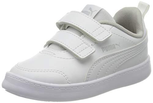 Puma Courtflex V2 V Inf - Sneaker Unisex Bambini, Bianco (Puma White-Gray Violet 04), 26 EU