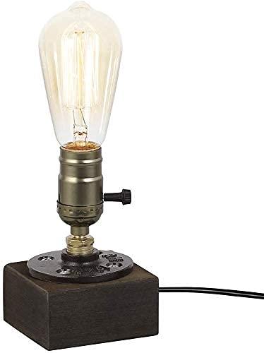 Vintage Industrielle Tischlampe - E27 Edison Glühbirne Schreibtischlampe, Minimalistische Akzentlampe Im Loft-stil Für Wohnzimmer, Büro, Gang, Bar