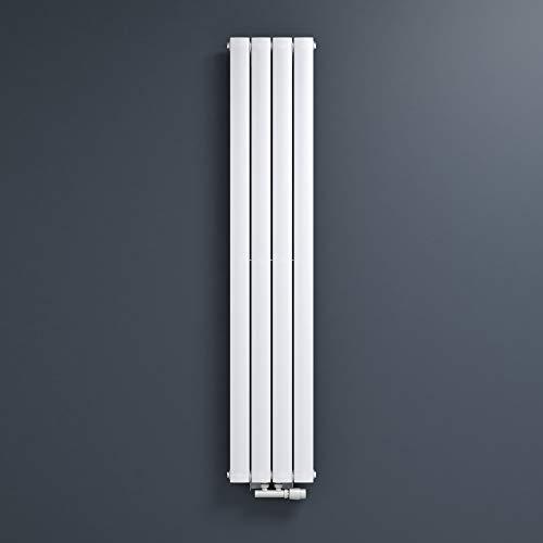 Mai & Mai Heizkörper flach 160x31cm in Weiß Paneelheizkörper Vertikal aus Stahl