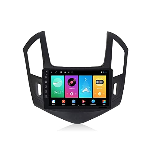 Android 9.0 Player multimedia 9 pulgadas HD Screen Screen Screen Radio Estéreo para Chevrolet Cruze 2012-2015 Unidad de cabeza NAV con Bluetooth WiFi 4G SWC GPS Navigation FM Receptor, 8 Core 4G + Wif
