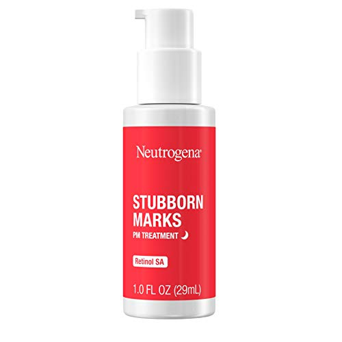 Neutrogena Stubborn Marks PM Treatment with Retinol SA, Face-Exfoliating Treatment to Help Reverse the Look of Post-Acne Marks & Uneven Skin Tone, Oil-Free, Non-Comedogenic, 1 fl. oz