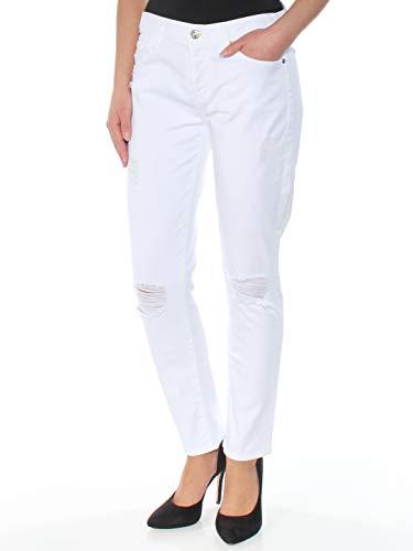 7 For All Mankind Damen Josefina Boyfriend Jeans in Clean White, 26