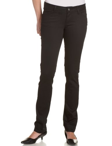 Dickies Girl Junior's Classic 5 Pocket Skinny Pant, Black, 0