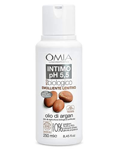 Omia Sapone Intimo Eco Bio Ph 5.5 Olio di Argan, Detergente Intimo, 250 ml