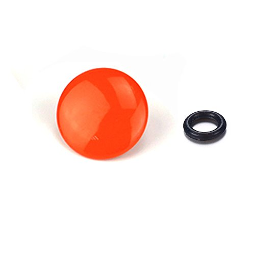 LXH Metal Bulged Surface Soft Release button Finger Touch for Fujifilm XT20 X 100F X-T2 X 100T X-PRO2 X-T10 X-PRO1 X-E2S X100 X 100S X10 X 20 X30 X-E1 X-E2 STX-2 For Nikon Canon Olympus (Orange)