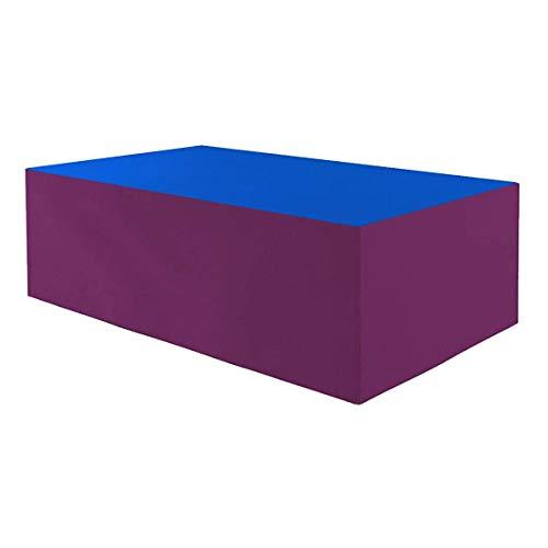 Planesium Premium - Funda protectora para mesa de jardín (575 g/lfm, 220 x 100 x 110 cm), color azul y burdeos