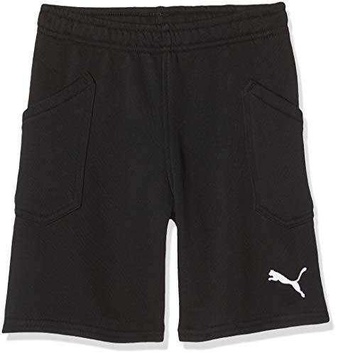 PUMA Kinder Liga Casuals Shorts Jr Hose, PUMA Black-PUMA White, 164