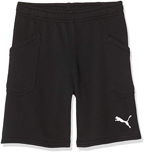 PUMA Kinder Liga Casuals Shorts Jr Hose, Black White, 176