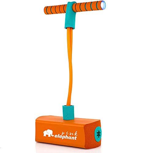 ALLCELE Pogo Stick für Kinder mit Licht & Sound, Schaum Pogo Pullover für Jungen & Mädchen Kinder (orange)