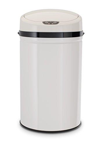Echtwerk EW-AE-0260-1 Edelstahl Abfalleimer 30L mit IR Sensor, Inox White