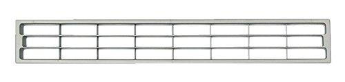 PiHaMi® Lüftungsgitter für Sockelleisten und Möbel Edelstahlfarbig (geeignet für Material 2-23 mm)