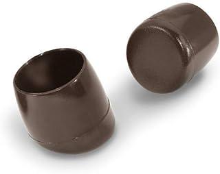 4 afdekkappen stoelglijders voor ronde buizen, schuin met dubbele bodem, kunststof, zwart (16 mm, schuine 25 graden)