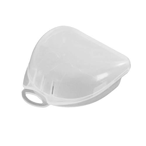 Ballylelly Estuche Protector bucal de plástico Transparente, Caja de retención Dental de ortodoncia, Estuche contenedor Protector bucal para Almacenamiento de dentaduras postizas