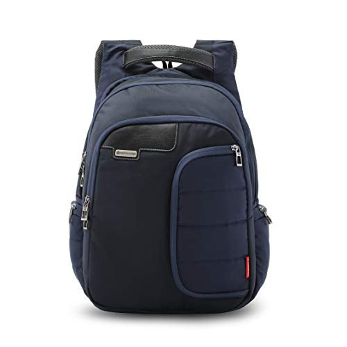 Harissons Bags Vervo 15.6-inch Laptop/Travel/Casual Backpack for Men and Women with rain Cover (Navy Blue, 40 Ltrs)