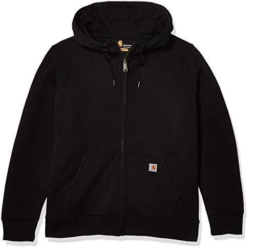 Carhartt Women's Clarksburg Full Zip Hoodie (Regular and Plus Sizes), Black, X-Large