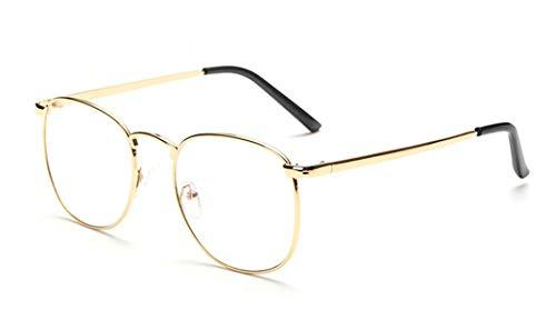 Flydo Gafas de lentes transparentes gafas de lectura decoración para hombres mujeres de moda/gafas retro Lente Transparente Visión Clara