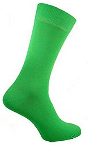 Herren Quality Teddy Junge Neon Socken Verschiedene Farben Größe 39 - 45 - Grün, EU 39-46