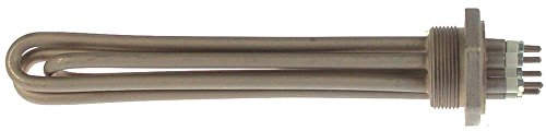 Radiator 3000W 230V lengte 250mm breedte 37mm 3 radiatoren hoogte 33mm aansluiting M4 montage schroefflens onderdompelradiator