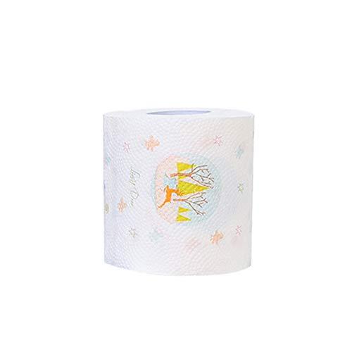 YUnnuopromi - Papel Pintado para árbol de Navidad, diseño de Papá Noel, Papel Impreso, Rollos de Papel...