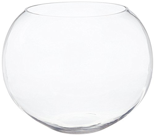 CYS EXCEL Glass Bubble Bowls Fish Bowls by Round Shaped Glass Bowls - Multiple Sizes - H:14'...