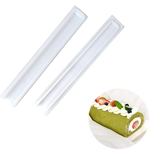 DIY Molde Tubo para Hornear Silicona Molde De Tubo Largo 1 Pcs Molde de silicona en forma de cilindro 32 * 5,2 cm para incrustar jabón, vela, chocolate, caramelo, mousse y Fondant Decoración - Blanco