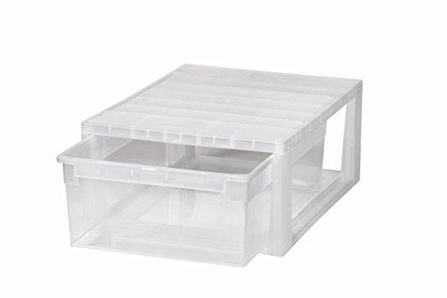 Kreher Schubladenbox mit 12 Liter Nutzvolumen in Größe Medium (M) .Passend für z.B. Socken, Krawatten, u.v.m. Kombinierbar mit Anderen Boxen zu einem Boxensystem! SUPER