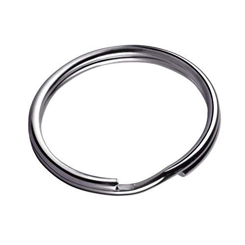 KINGFOREST 200PCS Key Rings 1 Inch, Key Rings Metal Keychain Rings Split Keyrings Flat Ring for Home Car Office Keys Attachment