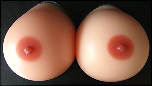 Forever Young - Silikonbrüste - Runde gewölbte Brustprothesen - Für Travestie - Körbchengröße D