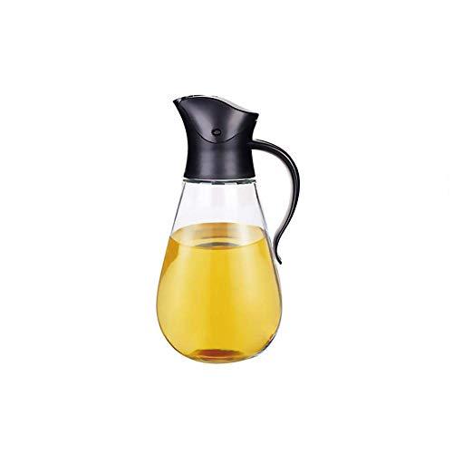 El pote de cristal claro del aceite de oliva del pote del aceite 550ML no se escapa con el interruptor automático, botella de condimento de la botella del vinagre de la botella de la salsa de soja