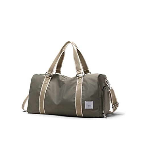 LYLY Bolsa de viaje ligera para viajes de negocios con compartimento separado para zapatos para Weeken, viaje corto (color oliva)