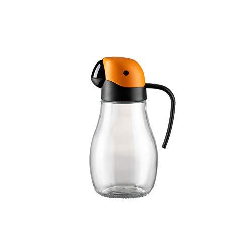 HMYLI Aceite de Oliva dispensador Botella, Botella Salsas Aceite de Oliva Can Cocina Gadget Aceite de Cristal de Almacenamiento de petróleo Anti-Fugas Botella Salsa de Soja vinagre,Naranja
