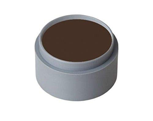 Grimas Cream Make Up, Face and Body Paints, 15ml (1001 Dark Brown)