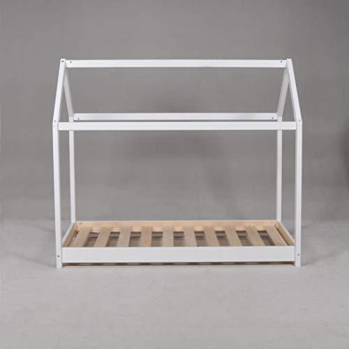 PANDA Lit Cabane 70x140cm, blanc