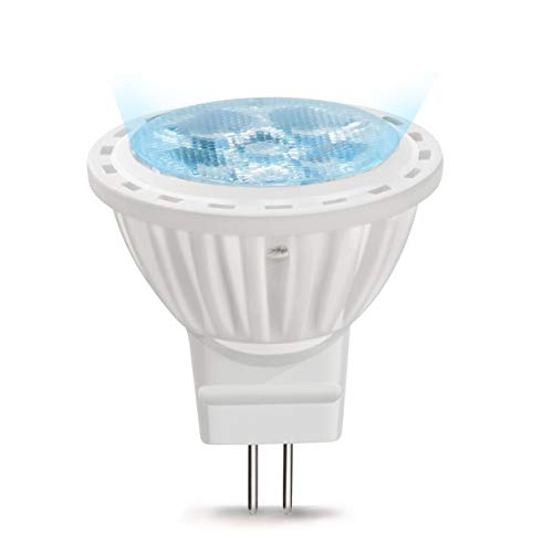 MR11 LED Birne GU4 4W AC/DC 12V Reflektor Leuchtmittel 120 Grad Warmweiß 3000K nicht Dimmbar 35W Halogenlampe (6-Stück)