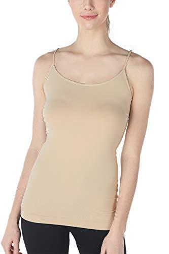 NIKIBIKI Women Seamless Premium Classic Camisole, Made in U.S.A, One Size (Nude)