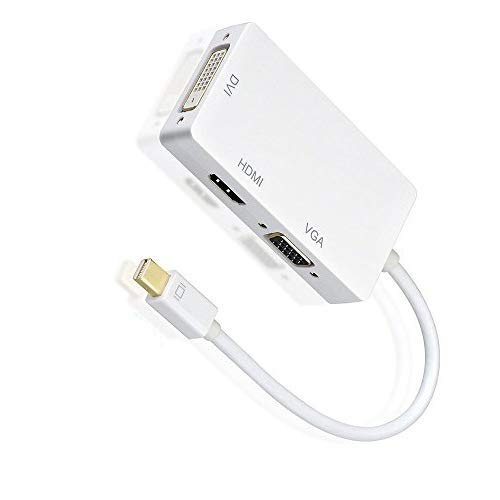AMANKA 3in1 Mini Display Port zu VGA HDMI DVI Adapter Konverter(Thunderbolt auf HDMI VGA) Kabel für Apple MacBook Microsoft Lenovo Thinkpad Carbon Touch Helix usw