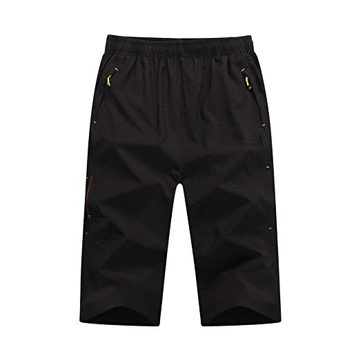 Cycling Shorts Men's Water Repellent Baggy Loose Fit Cycle Shorts with Zip Pockets Mountain Bike Cycling Shorts Pants Bicycle Riding Pants (Color : Black, Size : XXXXL)