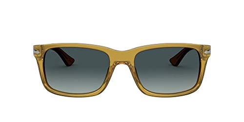 Persol Occhiali da sole PO3048S 204/Q8 occhiali Uomo colore miele lente blu taglia 55 mm